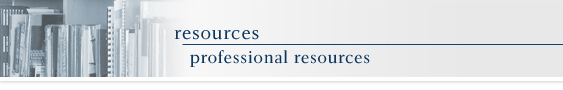 resources - professional resources